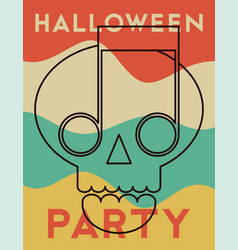 halloween party typography vintage style poster vector image