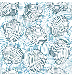 Hand drawn shell background vector