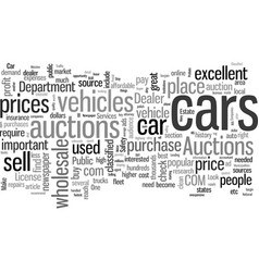 how to make money with used cars vector image