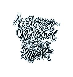 I wiil honor christmas in my heart vector