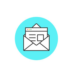 icon new open mail envelope vector image