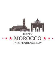 Independence Day Morocco vector