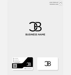 Initial cb or bc creative logo template and vector