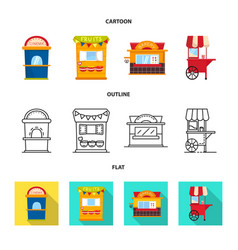 Isolated object amusement and store logo set vector