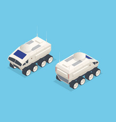 Isometric rover moon or mars rover robotic space vector