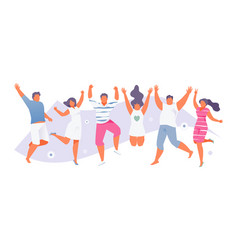 jumping summer people vector image