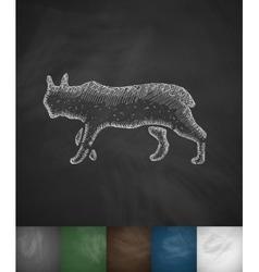 Lynx icon vector