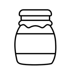 marmalade jar fresh food design icon thick line vector image