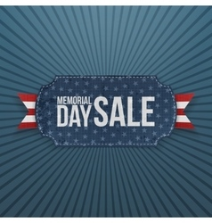 Memorial Day Sale festive Label and Ribbon vector image