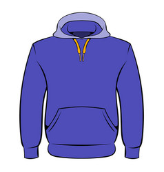 Men hoodies icon cartoon vector