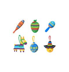 mexican cinco de mayo holiday elements set vector image