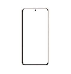 Modern frameless phone gold mockup isolated vector