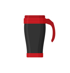 modern thermo cup travel mug thermos isolated on vector image