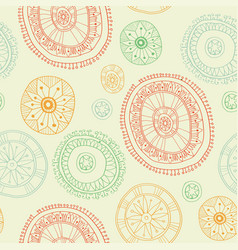 Ornate snowflake seamless background vector
