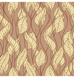 Pattern of autumn macro swirl leaves background vector image