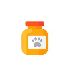 pet food icon vector image
