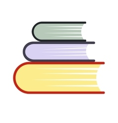 Pile of books flat icon vector