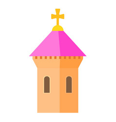 pink dome of church icon cartoon style vector image
