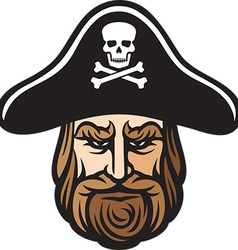 Pirate head cartoon vector