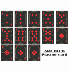 playing cards diamond suit poker cards original vector image