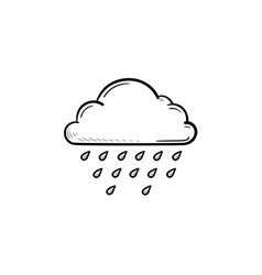 rain cloud hand drawn outline doodle icon vector image