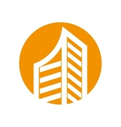 Real estate building isolated icon vector