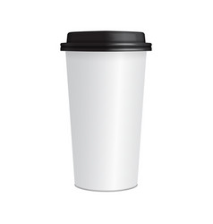 Realistic paper coffee cup 3d coffee cup mock up vector