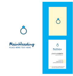 ring creative logo and business card vertical vector image