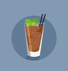 Rum and coke flat icon vector