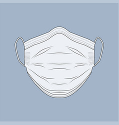 safety breathing protective mask vector image
