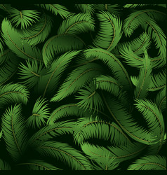 Seamless pattern palm leaves vector