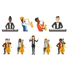 set of musicians people characters vector image