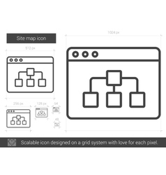 Site map line icon vector image