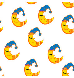 sleeping moon pattern vector image