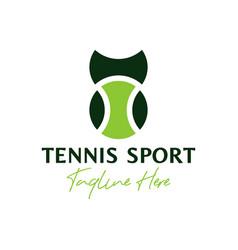 Tennis sports inspiration logo design vector