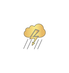 thunderstorm computer symbol vector image
