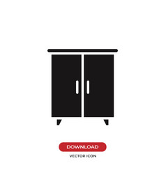 Wardrobe icon vector