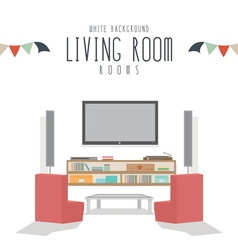 White Background Living room vector image