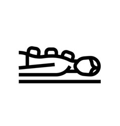 woman and stone massage in spa spa salon vector image