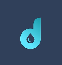 Letter D water drop logo icon design template vector image vector image