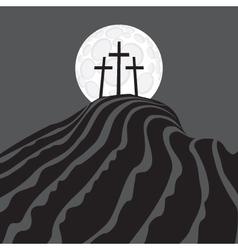 Mount Calvary vector image vector image