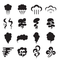 steam icons isolated on a white background vector image vector image