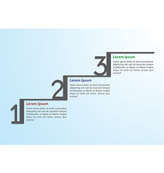 Step by step infographic template vector image vector image