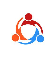 three people swirl logo vector image vector image