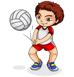 An Asian volleyball player vector image