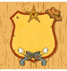 Cowboy sketch background vector image