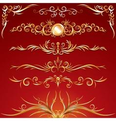 golden ornamental elements vector image