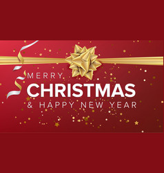 merry christmas and happy new year text vector image