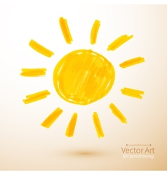 Sun felt pen drawing vector