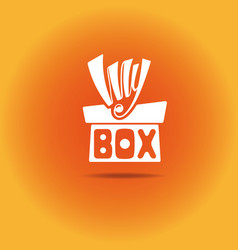 A box with a bow vector